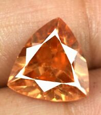 Natural 7.60 Ct/11 mm Pakistan Axinite Gemstone Trillion Cut AGI Certified V8208
