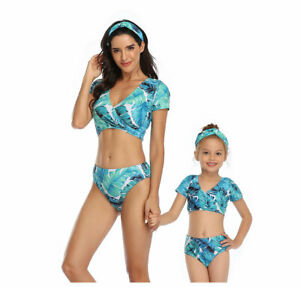 Matching Family Outfits Swimsuit Parent Child Swimwear Underwear Beach Wear Set