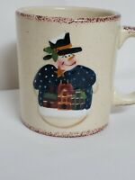 Home Is Where Memories Live Ceramic Snowman Primitive Decorative MUG W/Gift Box