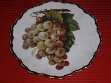 Antique / Vintage Punch Bavaria Porcelain Plate 9.5 Inches Grapes