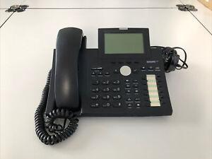 Snom 370 VoIP Telefon SIP POE (mit Netzteil) Schwarz klarVOICE Hörer Schwarz