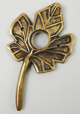 "Aged Brass Metal Gold Tree Leaf Doorbell Cover 4-3/4""  Door Bell Cover Maple"