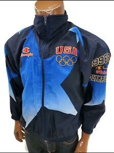 Vintage 90s Champion USA Olympic Team Champion 1996 Jacket Youth Large 14-16
