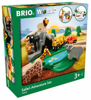 33960 BRIO WORLD Safari Adventure Train Railway Set 26pcs Wooden Plastic Toy 3+
