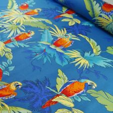 100% Cotton Poplin Fabric Tropical Parrots Birds in Trees by Fabric Freedom