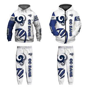 Detroit Lions 2Pcs Jogging Suit Casual Tracksuit Sportswear Sweat Suit Set