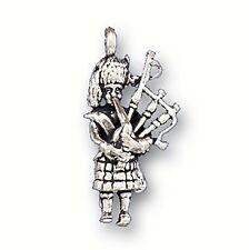 """Sterling Silver 925 Scotsman Playing Bagpipes 3.56gr H 1"""" W1/2"""" Exciting Charm"""