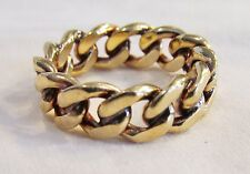 Vintage 14k Gold Curb Chain Link Wedding Band Eternity Ring Sz 7 Not Scrap 8 Gr