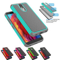 For LG Aristo 4+/4 Plus Case Shockproof Hybrid Rugged Slim Silicone Hard Cover