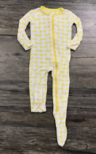 Kickee Pants Bow Tie Pasta Noddle Print Footie Infant Girl Sz 12-18 Months .