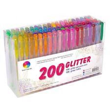 200 Pack Glitter Gel Pens Set, Smart Color Art 100 colors Gel Pen 100 Refills