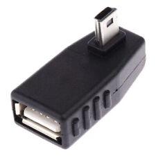 Adaptador Angulo 90° Mini USB Macho a USB 2.0 Hembra con OTG Funcion Tablet