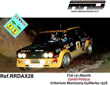DECAL/CALCA 1/43; ANEXO Fiat 131 Abarth; Zanini-Petisco; Guilleries 1978