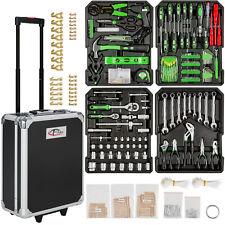 Tectake juego de herramientas (616 partes) Trolley maleta aluminio colgador caja