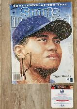 TIGER WOODS AUTOGRAPHED SPORTS ILLUSTRATED MAGAZINE - 1996 - CERTIFIED AUTHENTIC