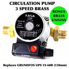 HOT / COLD WATER 3 SPEED BRASS CIRCULATION PUMP REPLACES GRUNDFOS UPS 15-60B