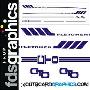 Fletcher Arrowsport 17' GTO 1 colour sticker/decal kit - custom sizes available