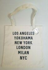 Forever 21 Eco Canvas Tote Cities New York LA Yokohama London Milan NYC Bag