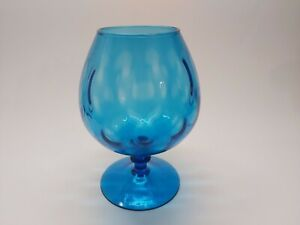 Vintage COBALT BLUE Hand Blown Italian Mid Century Empoli Glass VASE