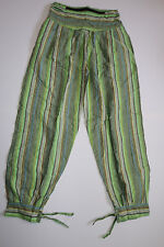Trousers Fisherman Pants Pull on India Goa Hippie Psy Trance Striped Baggy