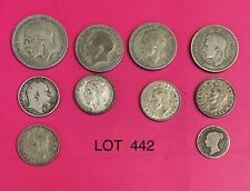 Foreign Silver Coins,Lot of 10, Lot #442, UK: Half Crown,Florins,Shillings,6 P