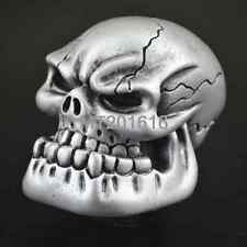 Silver Skull Head Universal Car Truck Manual Stick Gear Shift Knob Lever Shifter