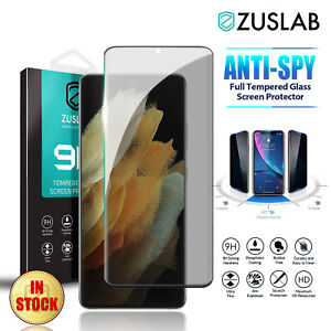 For Samsung Galaxy S21 S20 Ultra Plus FE Privacy Tempered Glass Screen Protector
