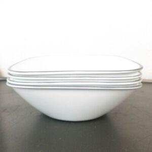 Corelle Square Soup Cereal Bowl Gray Rim 22oz Jacaranda Kyoto Night Adlyn