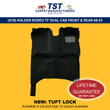 MOULDED CAR CARPET (G16) HOLDEN RODEO TF DUAL CAB FRONT & REAR 88-03