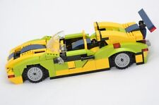 custom Lego car Creator MOC model new bricks PDF building instructions,Brazilian