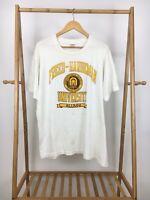 VTG Fruit Of The Loom Freed-Hardeman University Alumni Crest T-Shirt Size XL USA