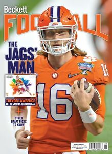 NEW JUNE 2021 BECKETT FOOTBALL PRICE GUIDE MAGAZINE TREVOR LAWRENCE COVER