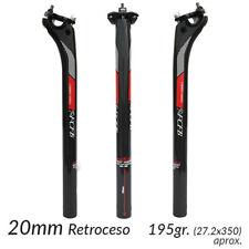 Tija de Sillin Carbono con Retroceso Ligera Bicicleta Carretera Montaña MTB BTT