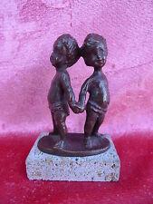 schöne,alte  Bronzefigur__Kinderpaar___!