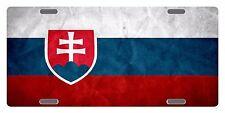 SLOVAKIA Flag Custom License Plate NATIONAL Emblem PAPER Version