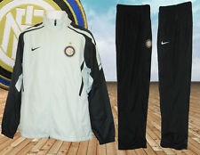 Nike Mens INTER MILAN Football Club Tracksuit AUTHENTIC Aqua  Navy Blue  Medium