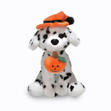 """Plushland Halloween Pawpals 8"""" Puppy Dog with Hat and Halloween Jack O Lantern"""