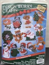Lotsa Cats Christmas Felt Ornaments Kit Design Works 5396 Makes 13 Ornaments