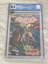 Tomb of Dracula #10 CGC 8.5 White Pages!! 🔥1st Blade the Vampire Slayer