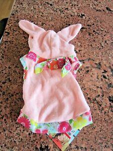 Martha Stewart PINK Bunny Hoodie Extra Small