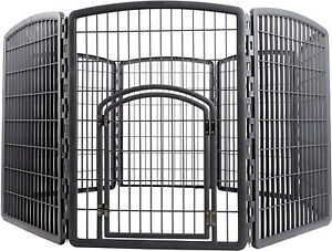 In Out Door Pet Play Pen Puppy Dog Cage Large Gate Fence Kennel Enclosed Area