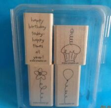 STAMPIN' UP! Set of 4 Birthday Best rubber stamps 2004