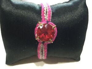 NWT Juicy Couture New & Genuine Adjustable Friendship Bracelet With Crown Logo