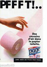 PUBLICITE ADVERTISING 126  1986   Page  papier toilette