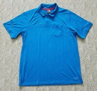 EUC MEN'S TNF THE NORTH FACE SHORT SLEEVE POLO SHIRT COLOR BLUE SIZE XL CASUAL