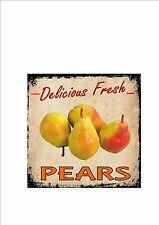 Cafe Sign Vintage Style Cafe Sign Shop Sign Fruit & Veg Kitchen Sign Pears