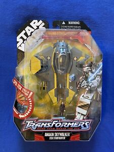 HASBRO TRANSFORMERS STAR WARS ANAKIN SKYWALKER/ JEDI STARFIGHTER NEW 2007