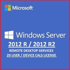 Windows Server 2012 R2 Remote Desktop Services 20 User Cal's License Key