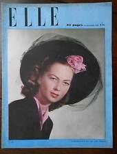 ►ELLE 43/1946 - MARLENE DIETRICH - BETTE DAVIS - MARIA MONTEZ - TINA AUMONT