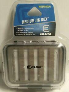 NEW Clam Drop Jig Kit w/ Medium Ice Tung Jig Box, Holds 250 Jigs